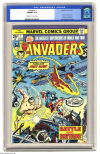 """The Invaders #1 (Marvel, 1975) CGC NM/MT 9.8 Off-white to white pages. When Marvel discontinued its """"Giant-Size&quo..."""