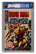 Silver Age (1956-1969):Superhero, Iron Man and Sub-Mariner #1 (Marvel, 1968) CGC NM- 9.2 Off-white to white pages. Gene Colan and Bill Everett cover. Colan ar...