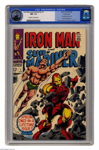 Iron Man and Sub-Mariner #1 (Marvel, 1968) CGC NM- 9.2 Off-white to white pages. Gene Colan and Bill Everett cover. Cola...