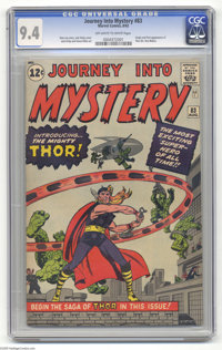 Journey Into Mystery #83 (Marvel, 1962) CGC 9.4 Off-white to white pages. Marvel was on a roll in 1962, reinventing itse...