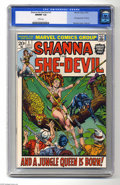 Bronze Age (1970-1979):Miscellaneous, Shanna the She-Devil #1 (Marvel, 1973) CGC NM/MT 9.8 White pages.Origin and first appearance of Shanna the She-Devil. Jim S...