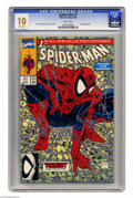 Modern Age (1980-Present):Superhero, Spider-Man #1 (Marvel, 1990) CGC MT 10.0 White pages. This is theregular (green cover) edition of one of the bestselling co...
