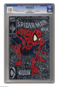 Spider-Man #1 Silver Edition (Marvel, 1990) CGC MT 10.0 White pages. Here's a Gem Mint copy of one of the most popular (...