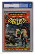 Bronze Age (1970-1979):Horror, Tomb of Dracula #1 (Marvel, 1972) CGC NM+ 9.6 White pages. Thisissue marked the first appearance of Marvel's Dracula, and i...