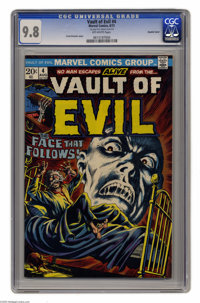 """Vault of Evil #4 Double Cover (Marvel, 1973) CGC NM/MT 9.8 Off-white pages. Frank Brunner cover. CGC notes, """"1st co..."""