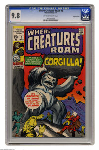 Where Creatures Roam #5 Bowling Green pedigree (Marvel, 1971) CGC NM/MT 9.8 Off-white to white pages. Jack Kirby cover...