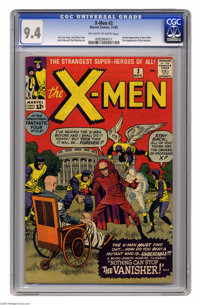 X-Men #2 (Marvel, 1963) CGC NM 9.4 Off-white to white pages. The second appearance of everyone's favorite team of mutant...