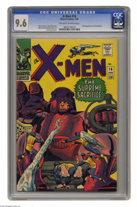 X-Men #16 (Marvel, 1966) CGC NM+ 9.6 Off-white to white pages. Another Mighty Mutant Masterwork by the King of Comics, t...