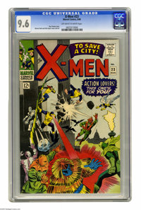 X-Men #23 (Marvel, 1966) CGC NM+ 9.6 Off-white to white pages. This is by far the nicest copy we've seen to date of this...