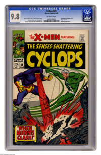 X-Men #45 (Marvel, 1968) CGC NM/MT 9.8 Off-white pages. John Buscema's cover (one of only three that J.B. drew for this...