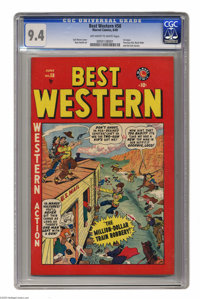 Best Western #58 (Atlas, 1949) CGC NM 9.4 Off-white to white pages. First issue of the title. Features Two-Gun Kid, Blac...