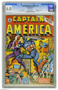 Golden Age (1938-1955):Superhero, Captain America Comics #16 (Timely, 1942) CGC FN 6.0 Off-white pages. The Red Skull, a bound damsel in distress, and Cap and...
