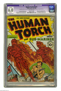 Golden Age (1938-1955):Superhero, The Human Torch #2 (#1) (Timely, 1940) CGC Apparent FN 6.0 Slight (P) Off-white pages. One of the most sought-after Timely k...
