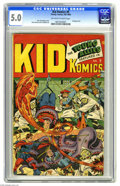 Golden Age (1938-1955):Superhero, Kid Komics #9 (Timely, 1945) CGC VG/FN 5.0 Off-white to white pages. Alex Schomburg cover. Overstreet 2005 VG 4.0 value = $1...