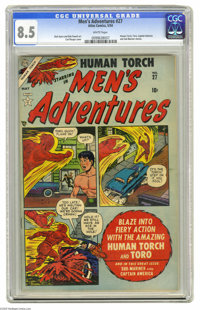 Men's Adventures #27 (Atlas, 1954) CGC VF+ 8.5 White pages. If you're like us, you're fascinated by Atlas Comics' brief...