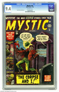 Golden Age (1938-1955):Horror, Mystic #14 (Atlas, 1952) CGC NM 9.4 Off-white pages. It's Pre-Codehorror Atlas-style, courtesy of interior artists includin...