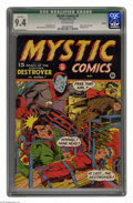 Golden Age (1938-1955):Superhero, Mystic Comics #9 Chicago pedigree (Timely, 1942) CGC Qualified NM 9.4 Off-white pages. This frantic cover is not only a bond...