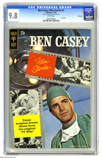 Ben Casey Film Stories #1 File Copy (Gold Key, 1962) CGC NM/MT 9.8 White pages. This comic, tying into the realistic hos...