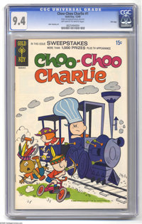 Choo-Choo Charlie #1 File Copy (Gold Key, 1969) CGC NM 9.4 Off-white to white pages. The only issue of the title. John S...