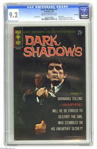 Dark Shadows #1 File Copy (Gold Key, 1969) CGC NM- 9.2 Cream to off-white pages. Here's one of the most valuable Gold Ke...
