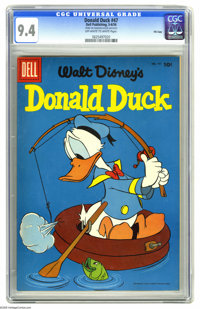 Donald Duck #47 File Copy (Dell, 1956) CGC NM 9.4 Off-white to white pages. Overstreet 2005 NM- 9.2 value = $85. CGC cen...