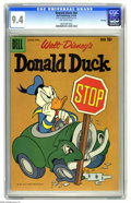 Silver Age (1956-1969):Cartoon Character, Donald Duck #64 File Copy (Dell, 1959) CGC NM 9.4 Off-white pages. Overstreet 2005 NM- 9.2 value = $60. CGC census 3/05: 1 i...