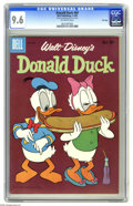 Silver Age (1956-1969):Cartoon Character, Donald Duck #69 File Copy (Dell, 1960) CGC NM+ 9.6 Off-white pages. Overstreet 2005 NM- 9.2 value = $60. CGC census 3/05: 1 ...
