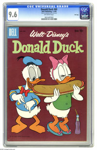 Donald Duck #69 File Copy (Dell, 1960) CGC NM+ 9.6 Off-white pages. Overstreet 2005 NM- 9.2 value = $60. CGC census 3/05...