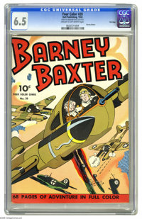 Four Color #20 Barney Baxter - File Copy (Dell, 1943) CGC FN+ 6.5 Cream to off-white pages. This colorful issue includes...