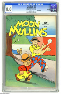 Four Color #31 Moon Mullins - File Copy (Dell, 1943) CGC VF 8.0 Cream to off-white pages. Tough guy Moon and his just-as...