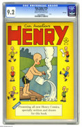 Golden Age (1938-1955):Humor, Four Color #155 Henry - File Copy (Dell, 1947) CGC NM- 9.2 Cream to off-white pages. Carl Anderson's character Henry spo...