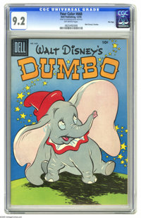 Four Color #668 Walt Disney's Dumbo - File Copy (Dell, 1955) CGC NM- 9.2 Off-white pages. The little elephant with the t...