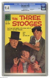 Four Color #1043 The Three Stooges - File Copy (Dell, 1959) CGC NM 9.4 Off-white pages. Let it be known that we at Herit...