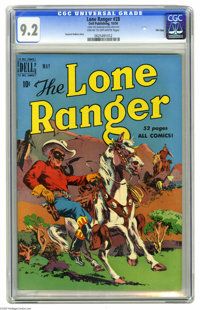 The Lone Ranger #28 File Copy (Dell, 1950) CGC NM- 9.2 Cream to off-white pages. Overstreet 2005 NM- 9.2 value = $160. C...