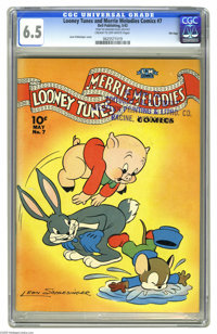 Looney Tunes and Merrie Melodies Comics #7 File Copy (Dell, 1942) CGC FN+ 6.5 Cream to off-white pages. Leon Schlesinger...
