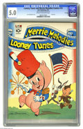 Golden Age (1938-1955):Funny Animal, Looney Tunes and Merrie Melodies Comics #10 File Copy (Dell, 1942) CGC VG/FN 5.0 Cream to off-white pages. Flag cover by Leo...