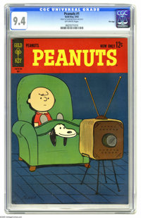 Peanuts #1 File Copy (Gold Key, 1963) CGC NM 9.4 Off-white pages. Overstreet 2005 NM- 9.2 value = $185. CGC census 3/05:...
