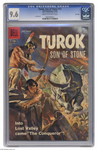 Turok #12 File Copy (Dell, 1958) CGC NM+ 9.6 Cream to off-white pages. Lee Elias lovers take note: while the Fiction Hou...