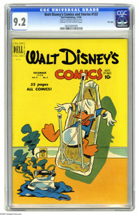 Walt Disney's Comics and Stories #123 File Copy (Dell, 1950) CGC NM- 9.2 Cream to off-white pages. This issue of Comics...