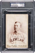 Baseball Collectibles:Others, 1893 Cy Young Cabinet Card Signed Twice, PSA/DNA Authentic.. ...