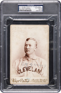 1893 Cy Young Cabinet Card Signed Twice, PSA/DNA Authentic