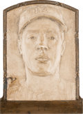 Baseball Collectibles:Others, 1955 Joe DiMaggio Plaster Mold Used to Create Hall of Fame Plaque.. ...