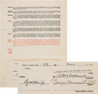 1930-31 Babe Ruth Signed New York Yankees Player's Contract--The Richest of His Career