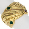 Estate Jewelry:Rings, Ruby, Emerald, Gold Ring. ...