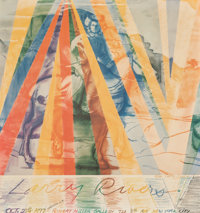 Larry Rivers (1923-2002) Robert Miller Gallery, 1977 Offset lithograph in colors on paper 23 x 21