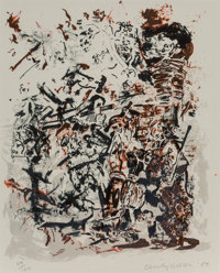 Cecily Brown (b. 1969) Untitled, 2004 Lithograph in colors on wove paper 16-3/4 x 13-1/2 inches (
