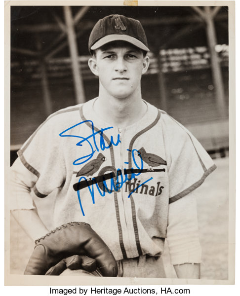 Circa 1942 Stan Musial Signed Original News Photograph Used For