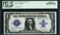 Large Size:Silver Certificates, Fr. 238* $1 1923 Silver Certificate PCGS Gem New 65PPQ.. ...