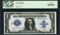 Large Size:Silver Certificates, Fr. 239 $1 1923 Silver Certificate PCGS Gem New 66PPQ.. ...
