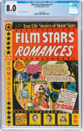 Golden Age (1938-1955):Romance, Film Stars Romances #1 (Star Publications, 1950) CGC VF 8.0Off-white to white pages....